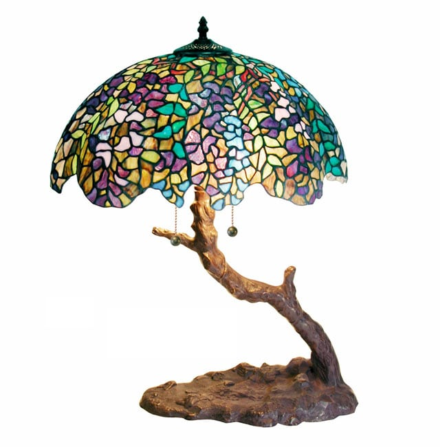 Details about Tiffany Table Lamp Stained Glass Light Shade Tree Style ...