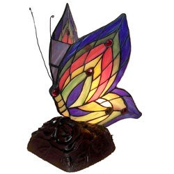 Tiffany Style Yellow Butterfly Accent Lamp