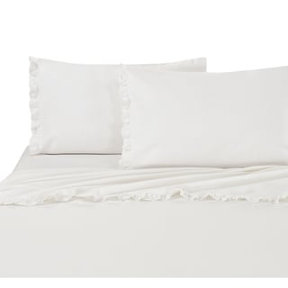 Classical Linen Cotton Collection Ruffle Lace Bed Sheet Sets