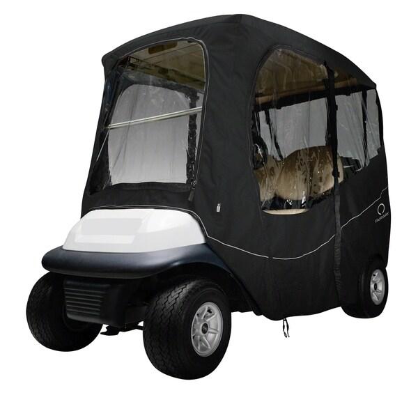 Classic Accessories Fairway 40-054-330401-00 Deluxe Golf Car Enclosure, Short Roof, Black 33218049