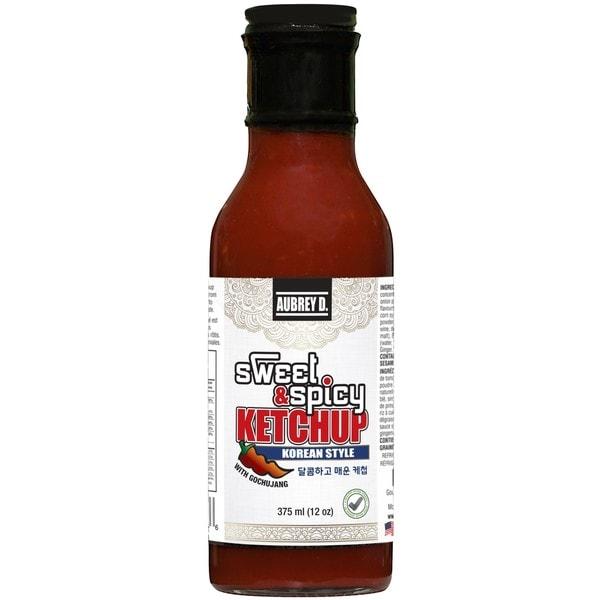 Aubrey D. Sweet & Spicy Korean Style Ketchup with Gochujang Spice, All-Natural, Vegan, Versatile Sauce 12 oz x 4 33221873