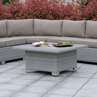 Furniture of America Lerg Contemporary Metal Outdoor Coffee Table