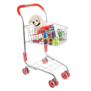 Hey! Play! Pretend Play Shopping Cart- Toy Grocery Cart