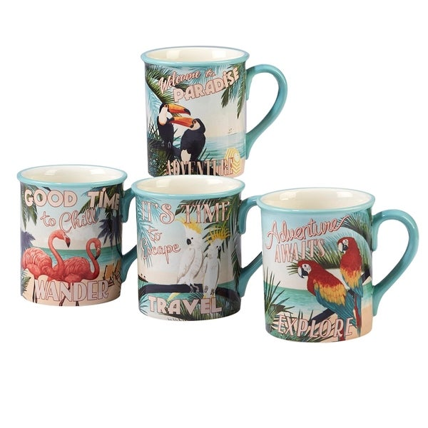 Certified International Paradise 18-ounce Mugs (Set of 4) 33247923