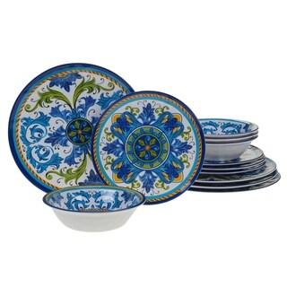 Certified International Lucca 12-piece Melamine Dinnerware Set