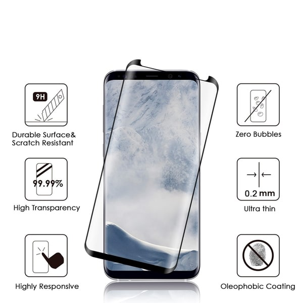 Samsung Galaxy S9 3D Curved Edgeless Tempered Glass Protector 0.2Mm 33263513