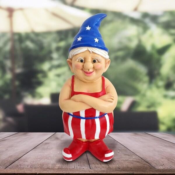 """14"""" Female Patriotic Naked Gnome 33264629"""