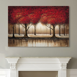 Copper Grove Cibola 'Parade of Red Trees' Canvas Art