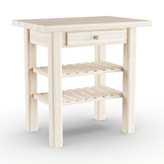 The Gray Barn Heavenly Winds Unfinished Solid Parawood Kitchen Island