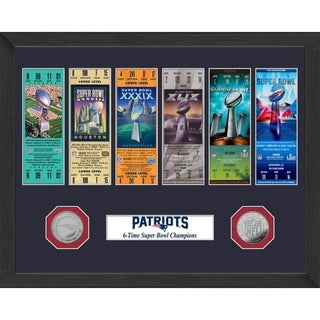 New England Patriots 6-Time Super Bowl Champions Ticket Collection - Multi-color