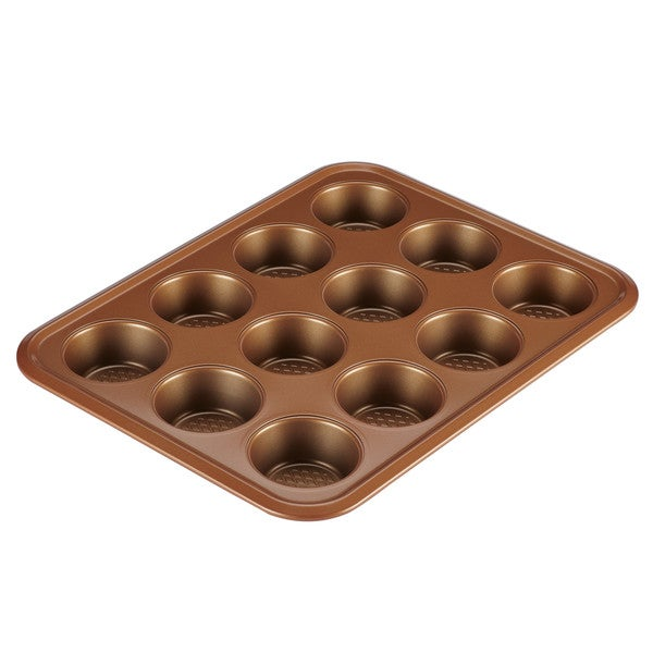 Ayesha Curry Bakeware 12-Cup Muffin Pan, Copper 33284700