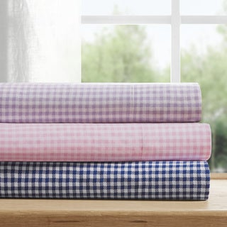 The Gray Barn Pinewood Gingham Cotton Bed Sheet Set