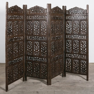 Flower Jali 4-panel Screen (India)