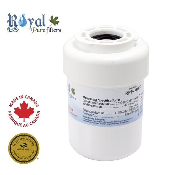 Royal Pure Filters RPF-MWF Replacement Water Filter For WF287, WF-287, GE/Hotpoint/Kenmore MWF, GWF, GWF01 - White 33331862