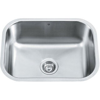 VIGO 23-inch Undermount Stainless Steel 18 Gauge Single Bowl Kitchen Sink