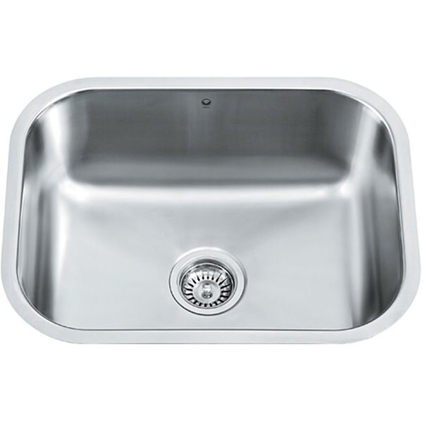Vigo 23 inch undermount stainless steel 18 gauge single - 18 inch kitchen sink ...