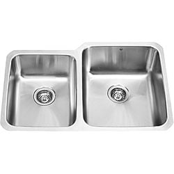 VIGO 32-inch Undermount 18 Gauge Double Bowl Kitchen Sink
