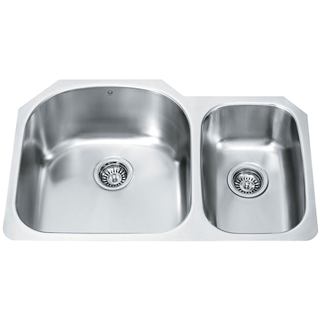 Vigo 31 inch undermount stainless steel 18 gauge double - 18 inch kitchen sink ...