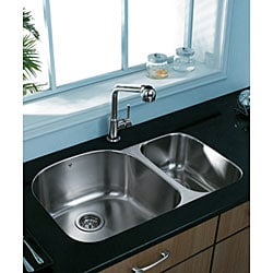 VIGO 31-inch Undermount Stainless Steel 18 Gauge Double Bowl Kitchen Sink