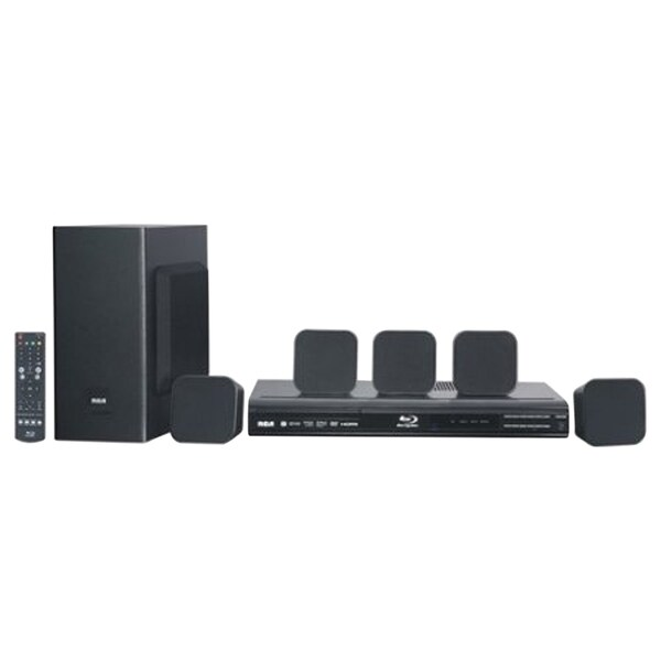 Refurbished RCA 5.1 CH Home Theater System with Blu-ray Player - Black 33417661