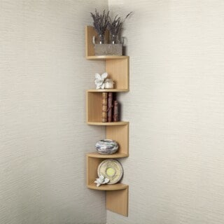 Porch & Den Manitoba Zig Zag Corner Wall Shelf