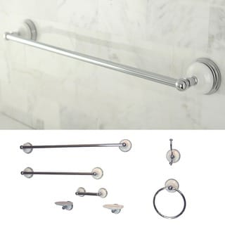 Seven-piece Chrome Bathroom Accessory Kit