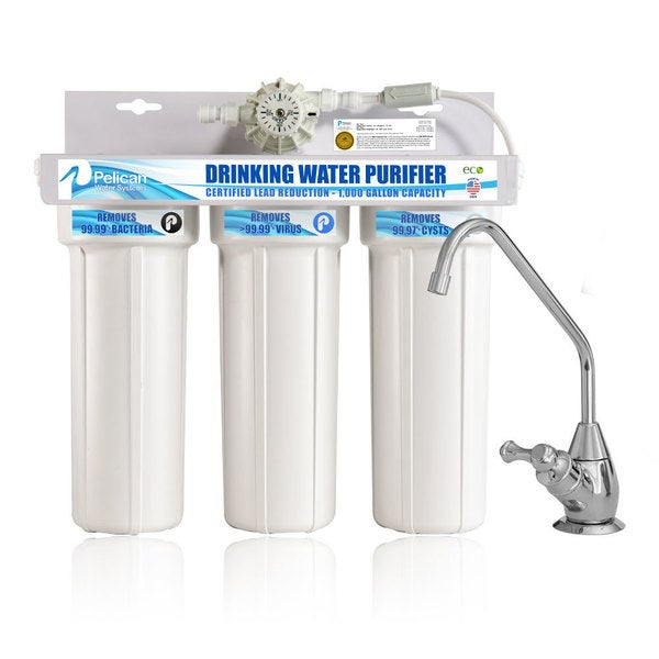 Drinking Water Purifier Dispenser Filtration System with Chrome Faucet 33447562
