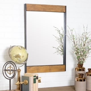 "Cliveden Wood & Metal Wall Mirror - 32""h x 21""w x 1.5""d"