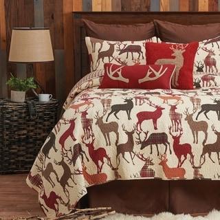 Colton Rustic Lodge Cotton 3 Piece Quilt Set - Twin 2 Piece
