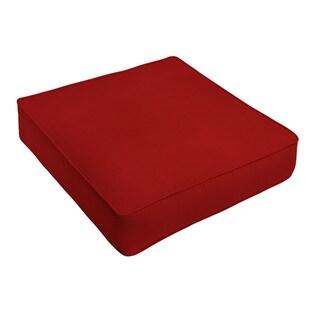 Sunbrella Jockey Red Indoor/ Outdoor Deep Seating Cushion by Humble + Haute