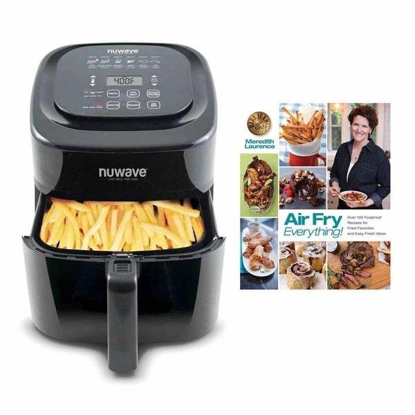 Nuwave 6 qt Brio Air Fryer Black w/ Air Fry Everything Cookbook 33507221