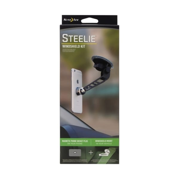 Nite Ize  Steelie  Black  Universal  Windshield Cell Phone Mount 33507616