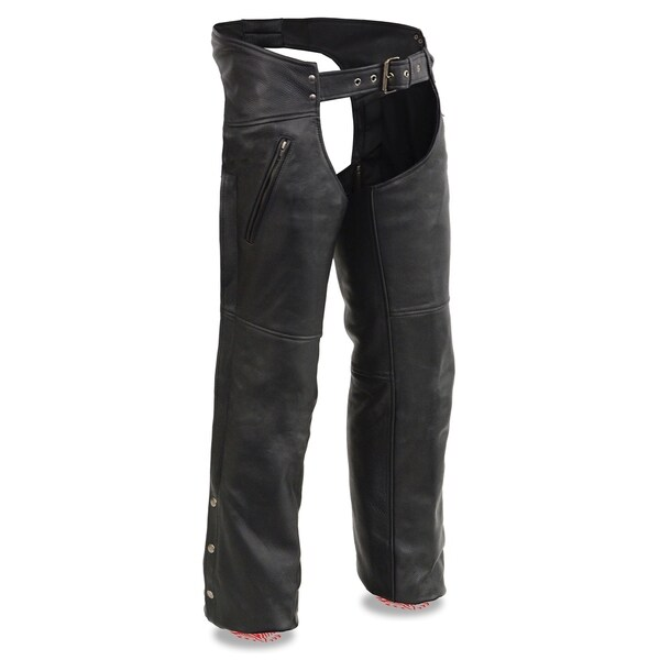 Men's Leather Chaps w/ Zippered Thigh Pockets & Heated Technology 33507688