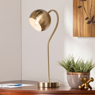 Parkhurst Antique Brass Gooseneck Table/Desk Lamp