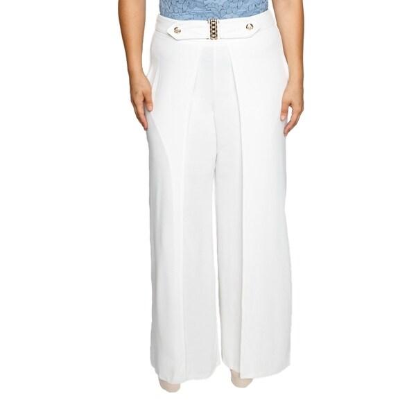 Xehar Womens Plus Size Flowy High Slit Layered Wide Leg Pants 33514182
