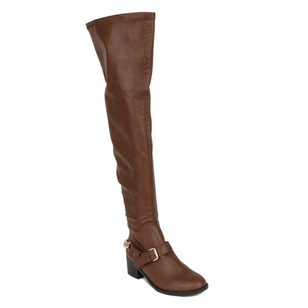 Xehar Womens Over The Knee Thigh High Buckle Riding Boots 33514754