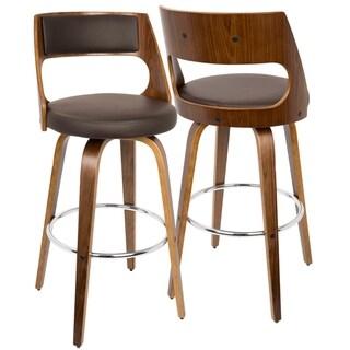 Carson Carrington Sauda Mid-century Modern Wood Barstool