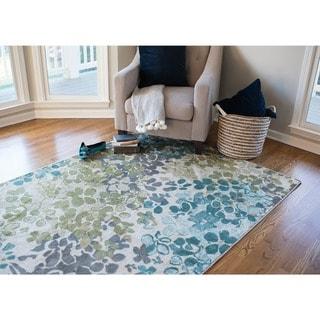 Copper Grove Sartine Aqua Area Rug