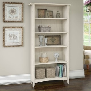 "The Gray Barn Lowbridge 5-shelf Bookcase in Antique White - 31.73""L x 12.17""W x 62.95""H"