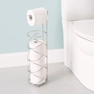 Home Basics Satin Nickel Swirl Toilet Paper Holder