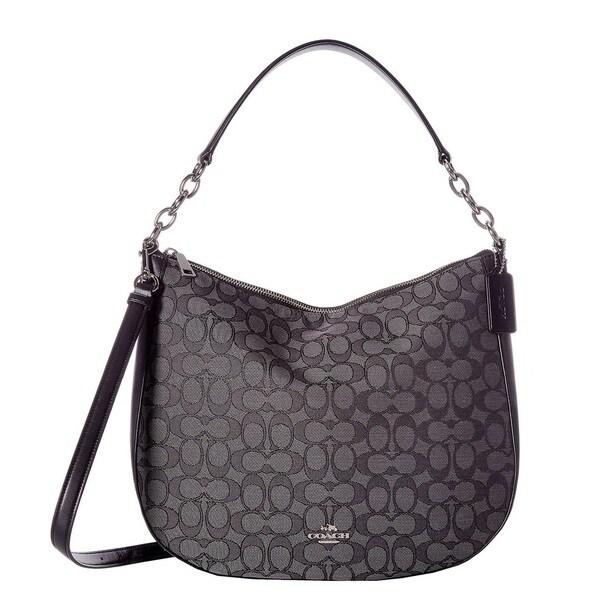 COACH Chelsea 32 Signature Black Hobo Handbag
