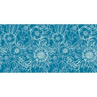 20 x 20 Inch Zentangle 4 Floral Print Outdoor Pillow
