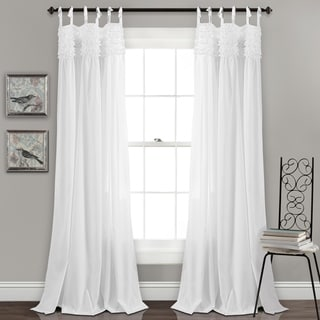 Lush Decor Lydia Ruffle Window Curtain Panel Pair