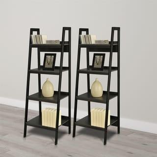 Avenue Greene Thompkins 4-shelf Ladder Bookcase Bundle (Set of 2)