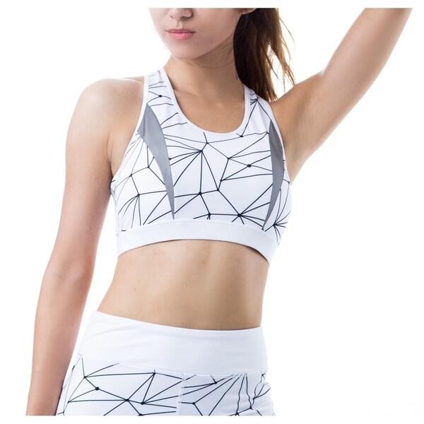 FIGUR ACTIV Women's Trinity Geometric Print Athleisure Sports Bra 33586032