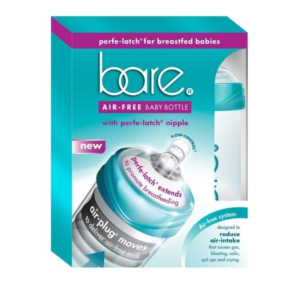 BARE AIR FREE 8-ounce Baby Bottle with Perfe-Latch Nipple 2 pack 33590725