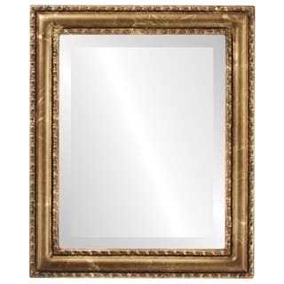 Dorset Framed Round Mirror in Champagne Gold - Antique Gold