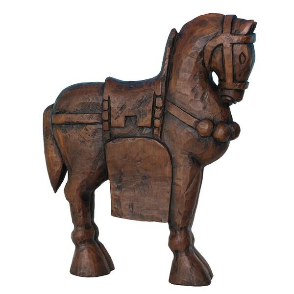 Sagebrook Home RESIN HORSE FIGURINE, BROWN 33604770
