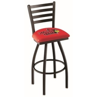 Illinois State Black/Red Steel/Vinyl Bar Stool 33607702