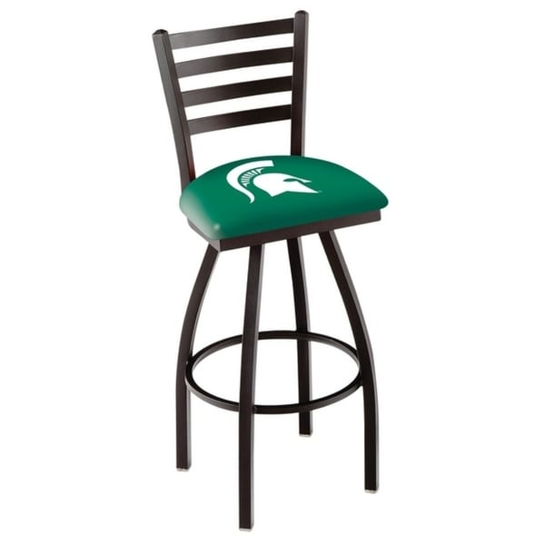 Holland Bar Stool Co. Michigan State Black Powder-coated Wrinkle Steel Bar Stool 33607703